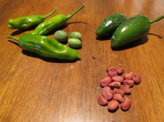 Beans and peppers haul.